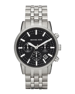 Michael Kors  Men's Gray Stainless Steel Scout Chronograph Watch