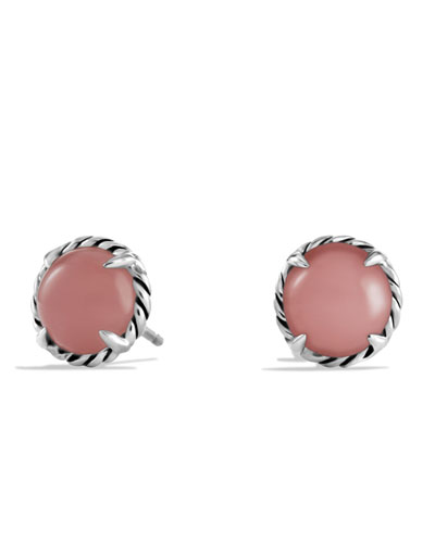 David Yurman Chatelaine Earrings with Guava Quartz