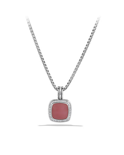 David Yurman Albion Pendant with Guava Quartz and Diamonds