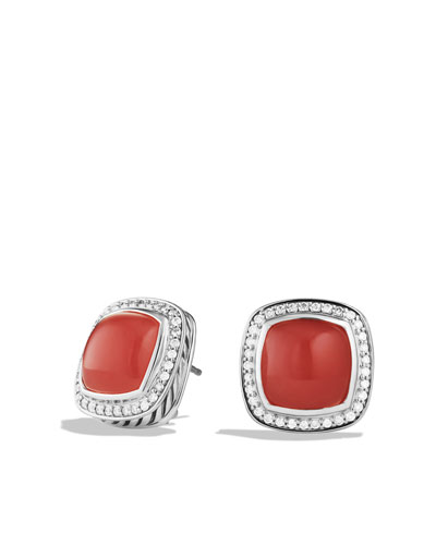 David Yurman Albion Earrings with Guava Quartz and Diamonds