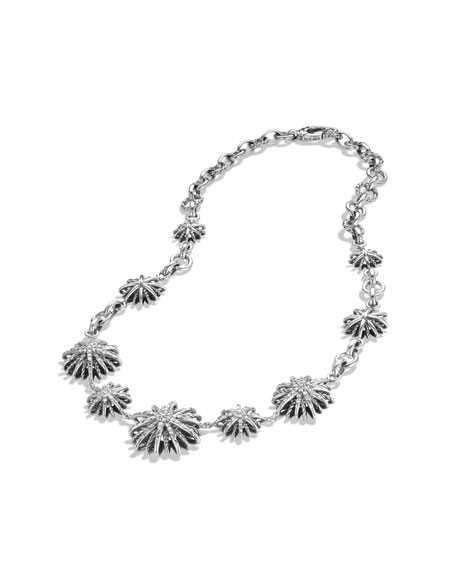 Starburst Link Necklace with Diamonds