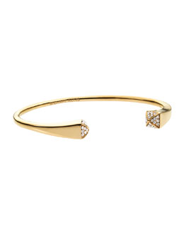 Michael Kors  Crystallized Reverse Cuff, Golden/Clear