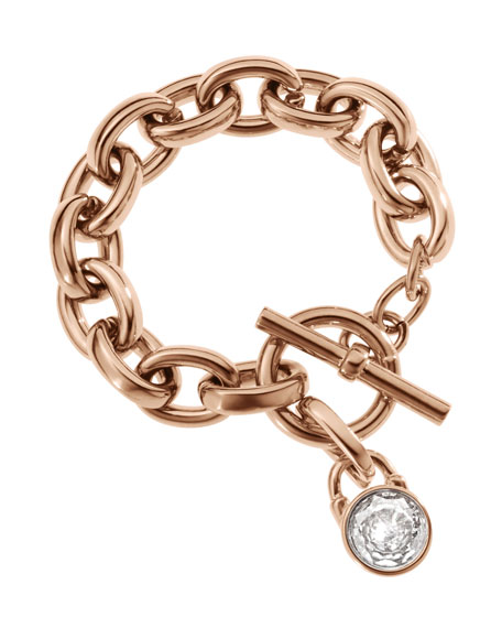 Chain-Link Padlock Bracelet, Rose Golden