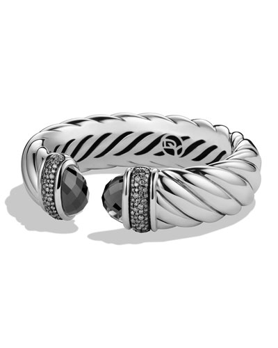 David Yurman Waverly Bracelet with Hematine and Gray Diamonds