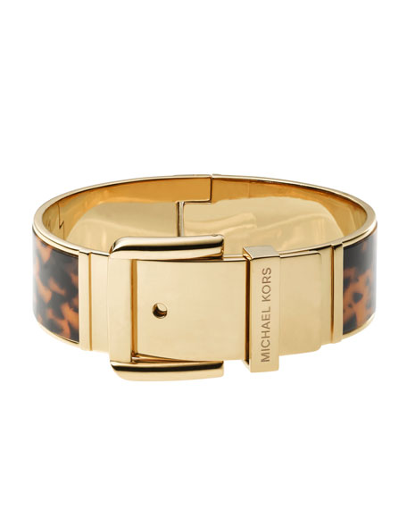 Tortoise Buckle Bangle, Golden