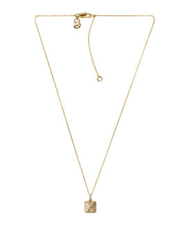 Michael Kors  Pave-Pyramid Pendant Necklace, Golden