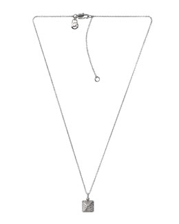 Michael Kors  Pave-Pyramid Pendant Necklace, Silver Color