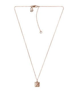 Michael Kors  Pave-Pyramid Pendant Necklace, Rose Golden