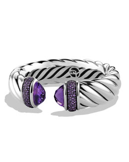 David Yurman Waverly Bracelet with Amethyst and Purple Sapphires