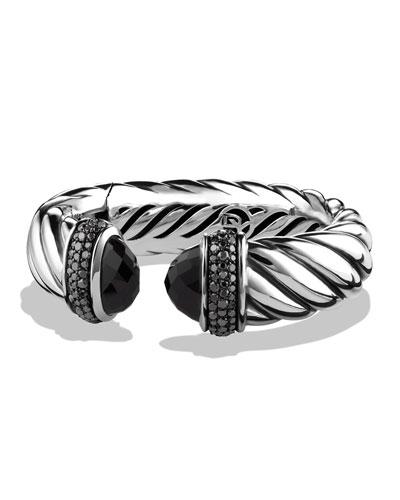 David Yurman Waverly Bracelet with Black Onyx and Black Diamonds