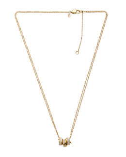 Michael Kors  Three-Ring Necklace, Golden
