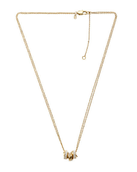 Three-Ring Necklace, Golden