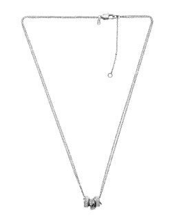 Michael Kors  Three-Ring Necklace, Silver Color