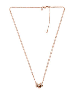 Michael Kors  Three-Ring Necklace, Rose Golden