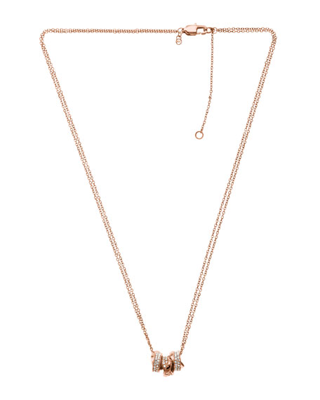 Three-Ring Necklace, Rose Golden