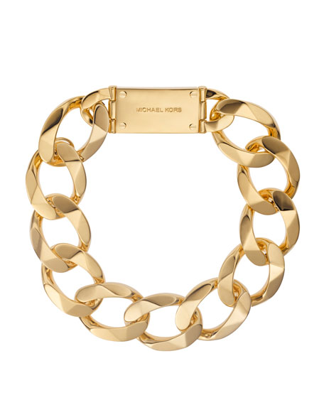 Chain-Link Collar Necklace, Golden