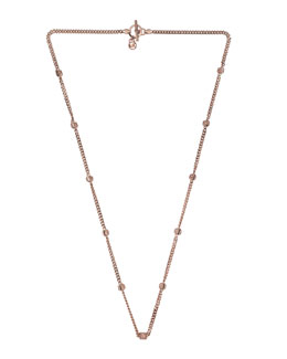 Michael Kors  Pyramid-Stud-Station Necklace, Rose Golden