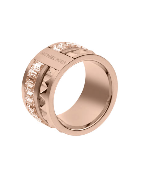 Pyramid/Baguette Ring, Rose Golden