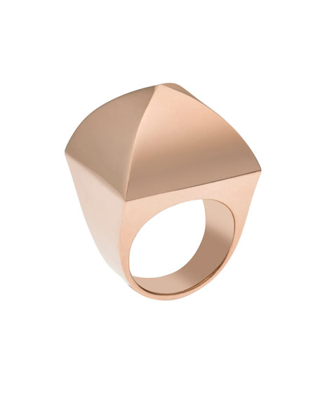 Pyramid Ring, Rose Golden