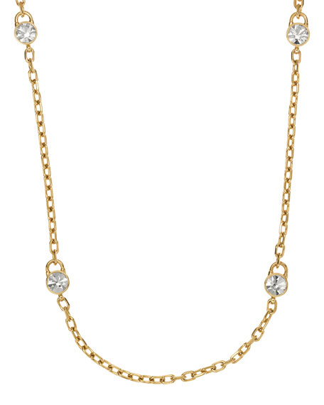 Lock Station Necklace, Golden