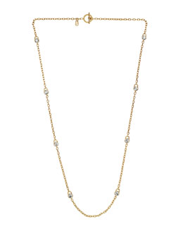 Michael Kors  Lock Station Necklace, Golden