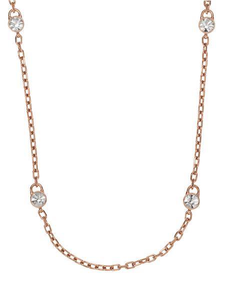 Lock Station Necklace, Rose Golden
