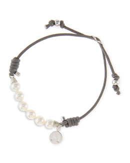 Majorica 6mm White Pearl Bracelet, Gray
