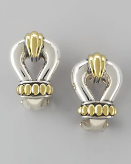Lagos Derby Two-Tone Buckle Post Earrings