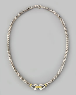 "Lagos Derby Caviar Mixed-Metal Necklace, 16""L"