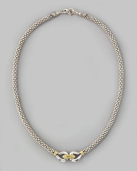 "Derby Caviar Mixed-Metal Necklace, 16""L"