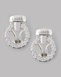 Lagos Enso Diamond Circle Stud Earrings