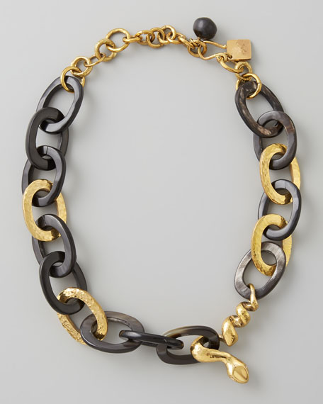 Nyoka Snake Necklace, Dark Horn