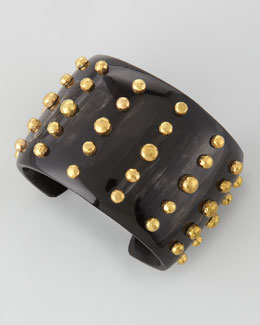 Ashley Pittman Kiwiko Studded Cuff Bracelet, Dark Horn