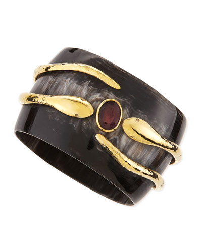 Ashley Pittman Ruby Pacha Bangle, Dark Horn