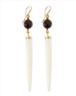 Ashley Pittman Shasira Garnet & Bone Drop Earrings