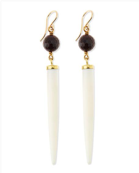 Shasira Garnet & Bone Drop Earrings