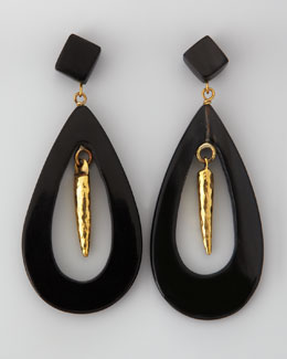 Ashley Pittman Heleni Earrings, Dark Horn
