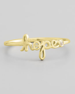 SHY by Sydney Evan Bezel Diamond Hope Ring, Yellow Gold