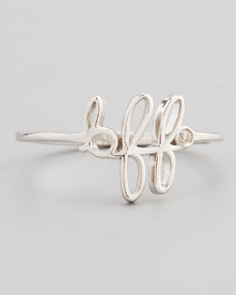 SHY by Sydney Evan BFF Diamond Silver Ring