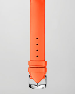 Philip Stein 18mm Silicone Strap, Orange