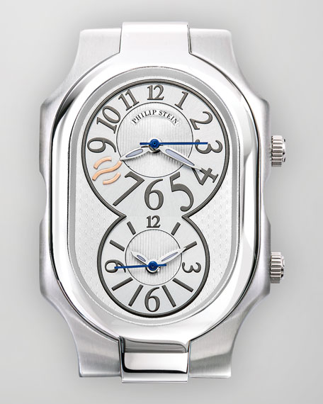 Large Signature Stainless Steel Watch
