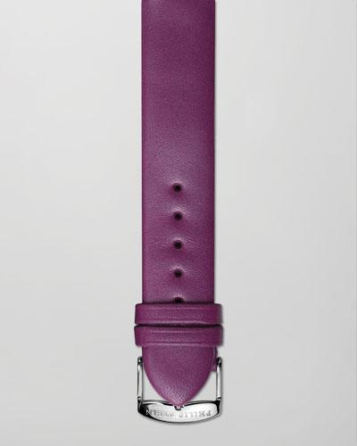 Philip Stein 18mm Calfskin Leather Strap, Purple