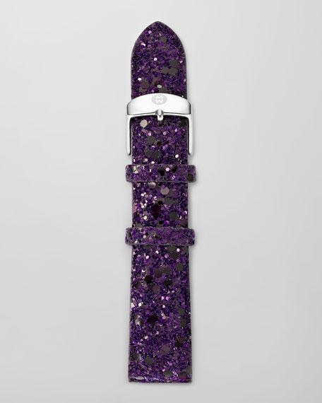 20mm Glitter Watch Strap, Purple