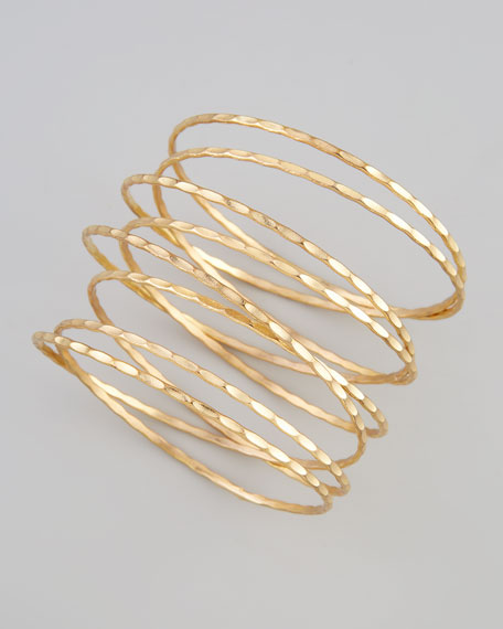 Golden Stacked Spiral Bracelet