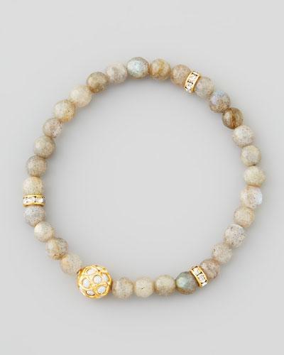 Les Amis Sada Bead & Crystal Stretch Bracelet, Labradorite