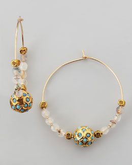 Les Amis Sada Beaded Hoop Earrings