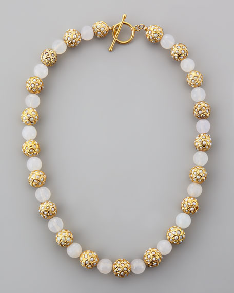 Sada Pearlescent Beaded Necklace