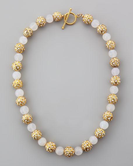 Sada Pearlescent Beaded Necklace