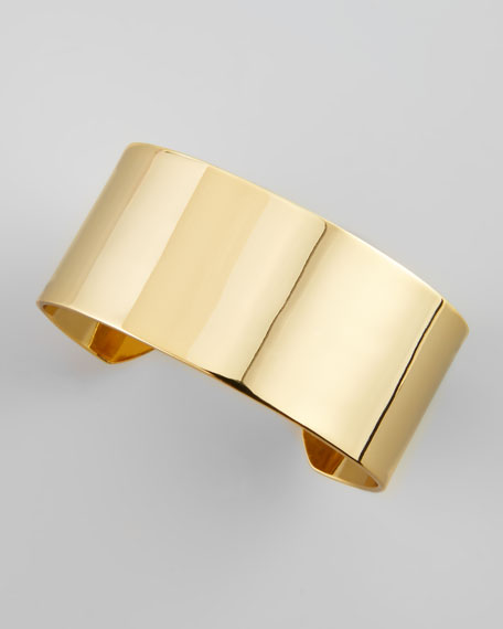 Medium Golden Cigar Band Cuff