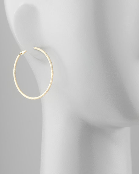 Large Golden Stardust Hoop Earrings